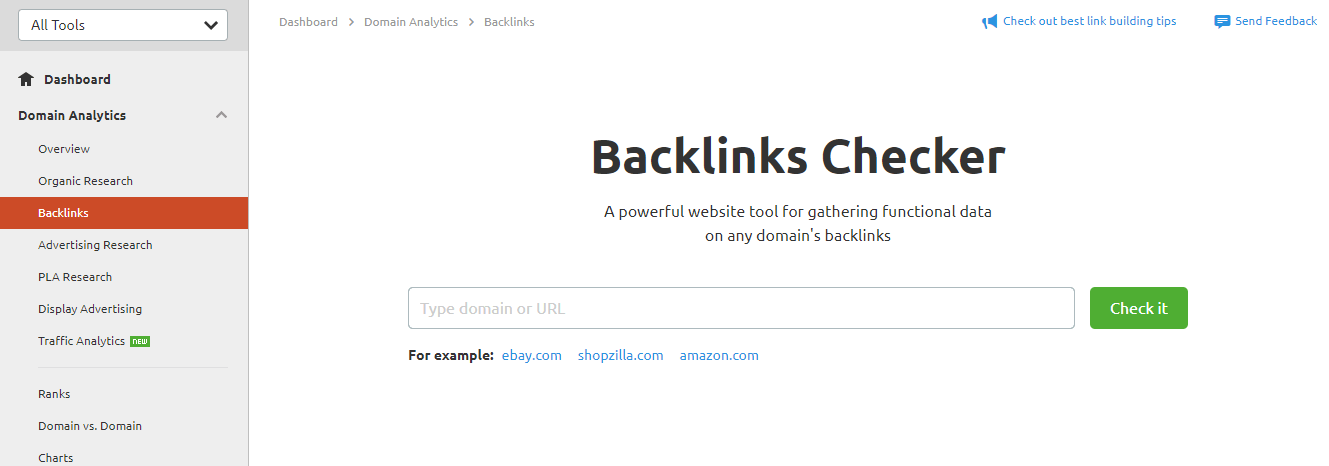 Backlinks Analytics