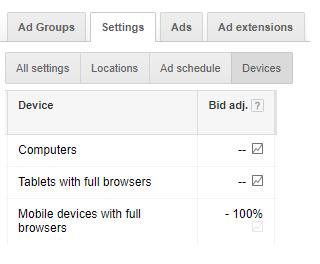 Mobile bids google adwords